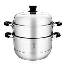 乐厨系列不锈钢蒸锅